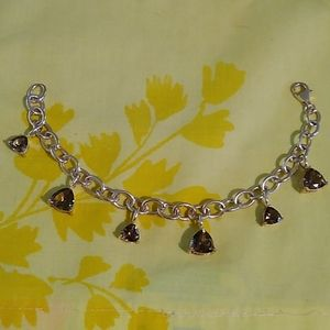 Jewelry - Sterling Silver Smoky Quartz Dangle Bracelet